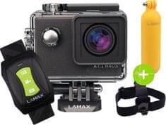 LAMAX športna kamera X7.1 Naos z daljinskim upravljalnikom, naglavnim trakom in nastavkom za vodo