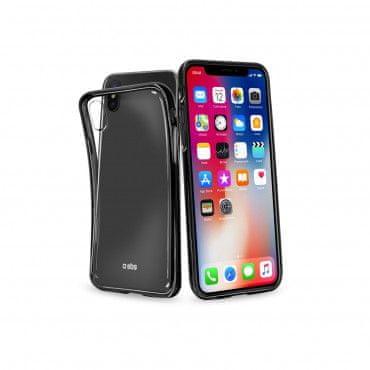 SBS ovitek za iPhone X, Extra-Slim, črn
