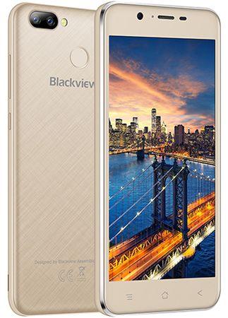iGET mobilni telefon Blackview A7 Pro, zlatni + poklon: etui