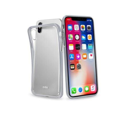 SBS maskica za Phone X, Extra-Slim, srebrna