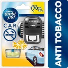 Ambi Pur Car Anti Tobacco Csíptetős Autóillatosító kezdőcsomag 7 ml