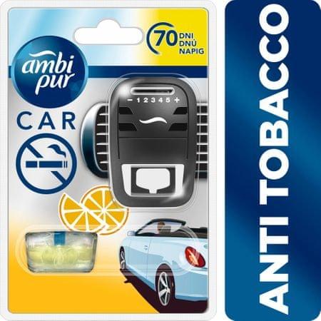 Ambi Pur odświeżacz do samochodu w zestawie startowym Car Anti Tobacco, 7 ml