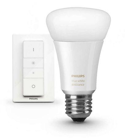 Philips żarówka HUE White Ambiance 10,5W + regulator przyciemniania HUE