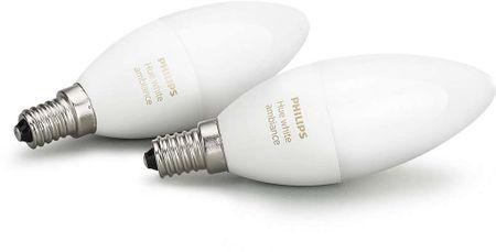 Philips Hue Ambiance žiarovky 6W B39 E14 EU 2Pack