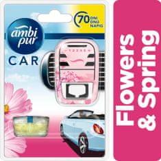 Ambi Pur Car strojček + náplň Flowers & Spring 7 ml