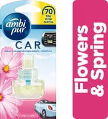Ambi Pur Car Flowers&Spring csíptetős autóillatosító utántöltő 7 ml