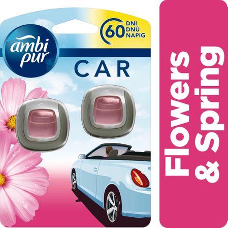 Ambi Pur Car Flowers&Spring Csíptetős Autóillatosító 2 db