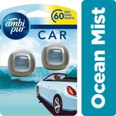 Ambi Pur Car Ocean Mist Csíptetős Autóillatosító 2 db
