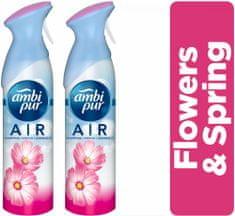 Ambi Pur Flowers & Spring Osvěžovač vzduchu 2 x 300ml