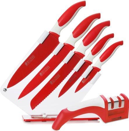 Maxwell & Williams set 5 nožev s stojalom in brusom