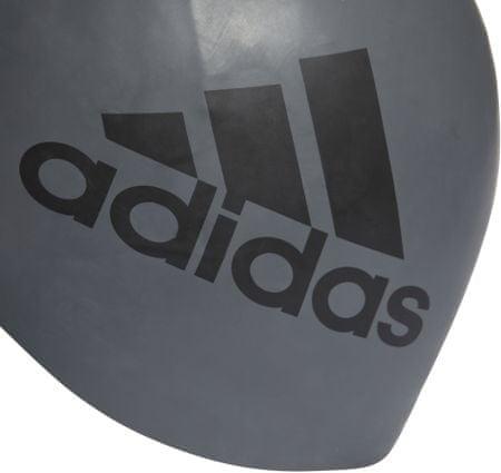 Adidas czepek kąpielowy Sil Graphic Cap Grey Five/Black NS