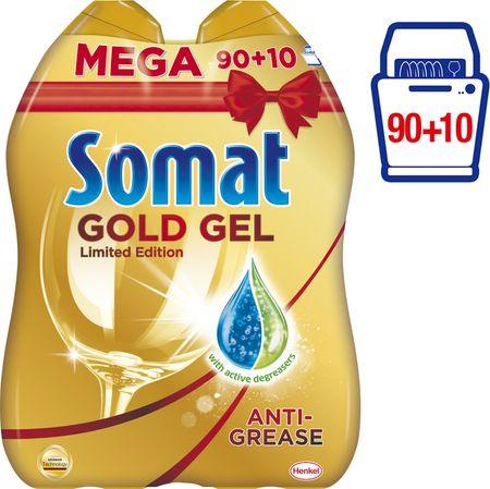 Somat Gold gel Anti-Grease 2x 1000 ml (90+10 pranja)