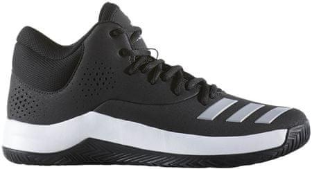 Adidas moški športni copati Court Fury 2017, črno/sivo/beli, 47,3