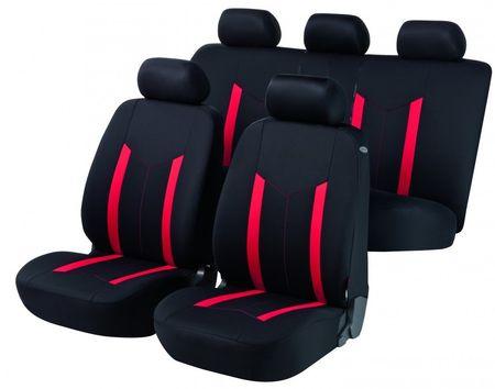Walser zestaw pokrowców na siedzenia Hastings, czerwony/czarny