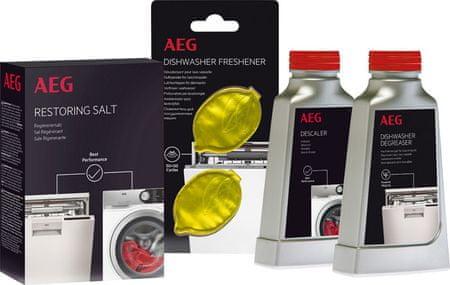 AEG Sada čistících přípravků pro myčky nádobí
