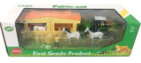 Alltoys Farm istállókkal és lovakkal