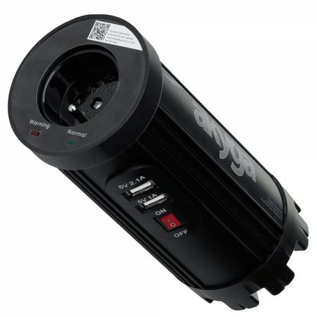 Akyga avto polnilec in pretvornik AK-CI-01, 12-230 V, 150 W + 2 x USB, 2100 mAh