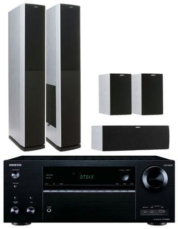 Onkyo TX-NR656, černá + Jamo S 626 HCS, bílý jasan