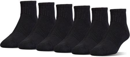Under Armour muške čarape Charged Cotton 2 Quarter Black Stealth Gray, L, crne