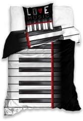 BedTex Obliečky Piano 140x200+70x90 cm