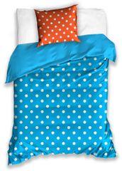 BedTex pamučna posteljina Spot, plavo-narandžasta, 140x200
