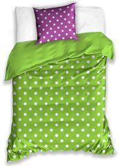 BedTex pamučna posteljina Spot, zeleno-ljubičasta, 140x200