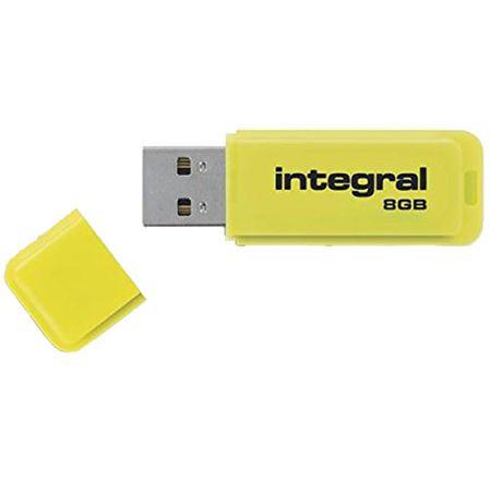 Integral USB ključek Neon 8GB USB 2.0, rumen