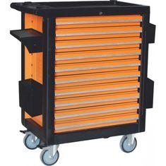 CORONA Montážní vozík na nářadí, 10 zásuvek, 386 ks (C1276)