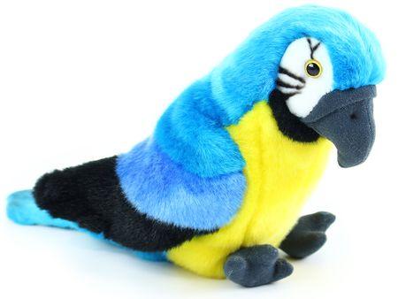 Rappa Ülő plüss papagáj, 25 cm