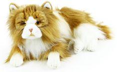 Rappa Fekvő plüss perzsa macska, 35 cm