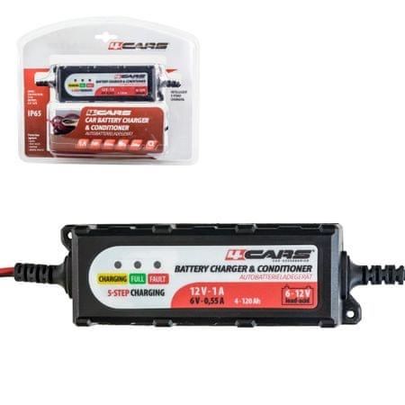 4Cars Nabíjačka autobatérií inteligentná 5-stupňová