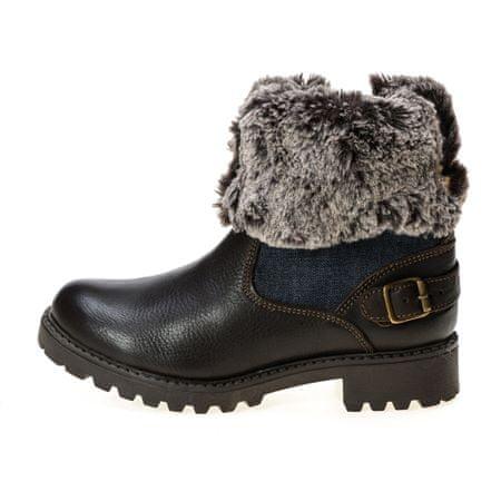 Wrangler dámská kotníčková obuv Creek Denim Boot 39 hnědá