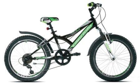 """Capriolo otroško gorsko kolo MTB Diavolo 200 FS, z 29,1 cm (11,5"""") okvirjem, zeleno-črno"""