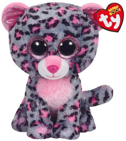 TY TASHA růžověšedý leopard 24 cm