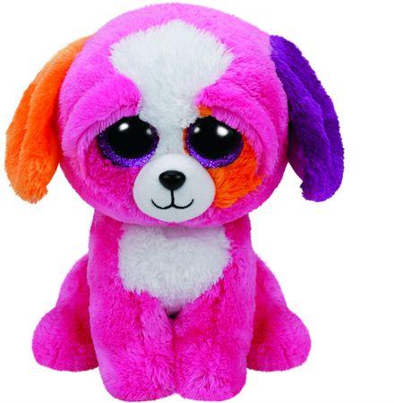 TY PRECIOUS rózsaszín kutya 24 cm