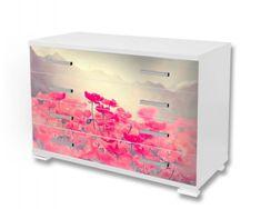 Dimex Nálepky na nábytok - Vlčie maky retro, 85 x 125 cm