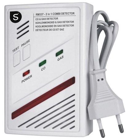 Smartwares Kombinált érzékelő – Gáz és CO - akkumulátor 5 éves élettartammal (10.029.29)