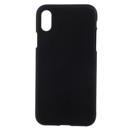 Goospery silikonski ovitek Soft Feeling za iPhone X, črna