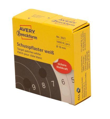 Avery Zweckform okrogle markirne etikete, Ø 19 mm, 1000 etiket/zavitek, bela