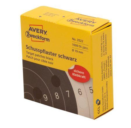 Avery Zweckform okrugle naljepnice za označavanje, Ø 19 mm, 1000 naljepnica/rola, crne