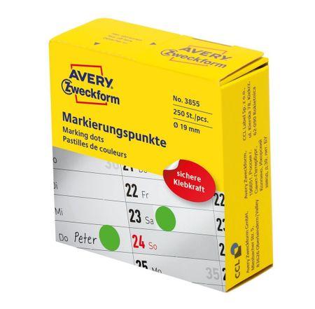Avery Zweckform okrogle markirne etikete 3855, premera 19 mm, zelena