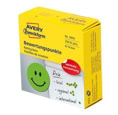 Avery Zweckform naljepnice za ocjenjivanje 3858, nasmijana lica