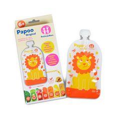 Petite&Mars Vrecúško na jedlo Papoo Original Lion 6