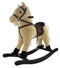 Teddies Koń na biegunach, beżowy