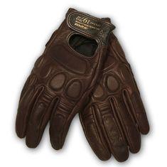Dainese moto rukavice BLACKJACK UNISEX hnědá, kozí kůže