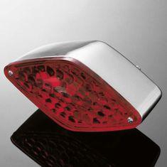 Highway-Hawk koncové svetlo na motorku DIAMOND, chróm (1ks)