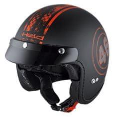 Held moto jet helma  BLACK BOB černá/červená