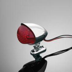 Highway-Hawk koncové motocyklové svetlo  HAWK, d = 55mm, E-mark, chróm (1ks)