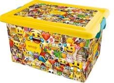 Kis plastikowe pudełko Emoji, 13 l