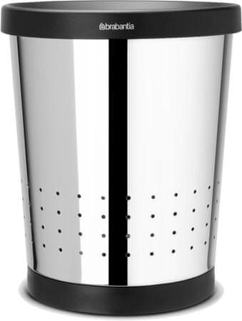 Brabantia Papírkosár, 11L, Fényes acél